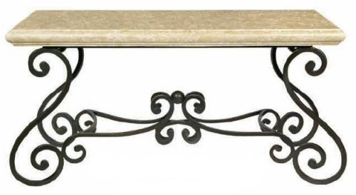 Cheap Estate Rectangular Iron Console Table w/ Stone Top (B000TXPUVM)