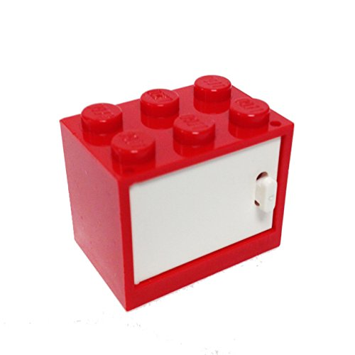 Lego Parts: Container, Cupboard 2 x 3 x 2 With Door (Red) - 1