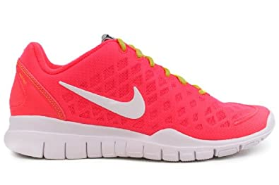 NIKE Women's Nike Free TR Fit Running Shoes-Hot Pink/Green/White-12