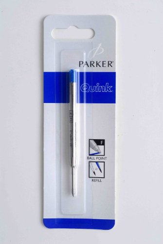 Parker - Quink: 1 Recharge Bille Couleur Bleu en Blister Taille: Fine