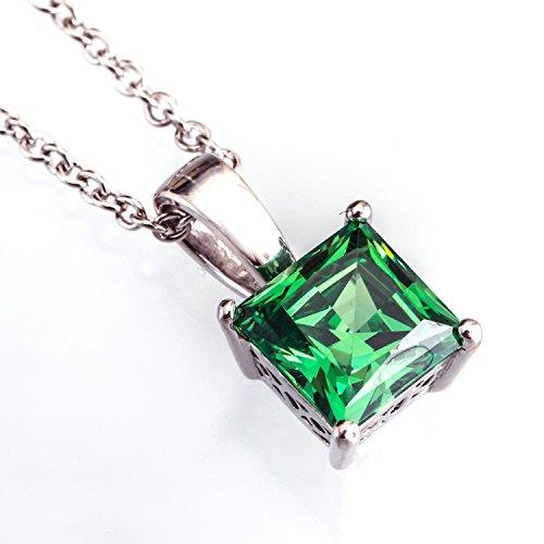 [ジュエリーキャッスル] Jewelry Castle ネックレス 1.24カラット シンセティック エメラルド ネックレス グリーン