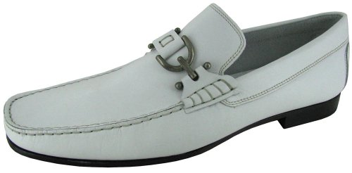 Men's Donald J Pliner® DACIO Dress Loafers WHITE 8.5 M