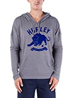 Nike Hurley Sudadera Pretty Cat Novelty P/O Hoodie (Gris)