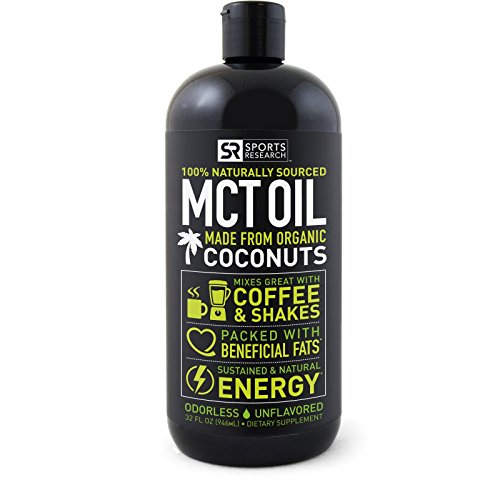 Premium MCT Oil derived only from Organic Coconuts - 32oz BPA free bottle | The only MCT oil certified Paleo Safe and registered by the Vegan Society. Non-GMO and Gluten Free. (Diet Water Mix compare prices)