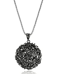 ImportedFashion Women Necklace Antique Silver Pendant Long Chain Sweater Jewelry
