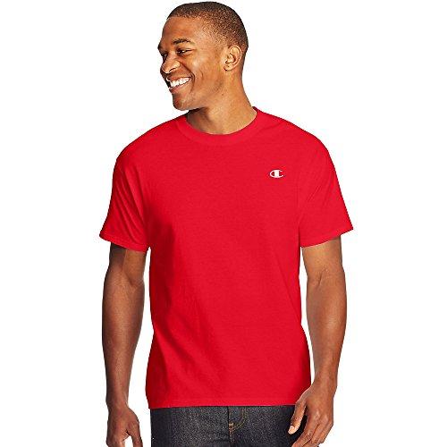 Champion Cotton Jersey Men's T Shirt_Crimson_XL