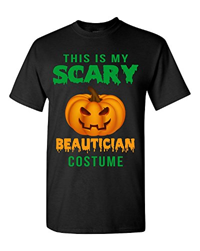 Halloween Pumpkin This Is My Scary Beautician Costume - Adult Shirt 3xl Black