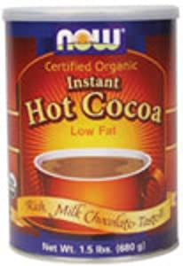 Certified Organic Instant Hot Cocoa Mix Now Foods 1.5 lbs Powder