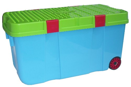 Charmant Kids Wheeled Toy Box. This Large Plastic Storage ...