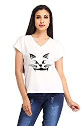 Snoby Cat Face Printed T-shirt (SBY1263)
