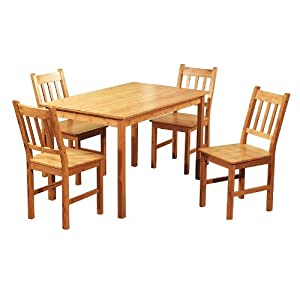 Super cheap 5 piece bamboo dining set dining room for Super cheap furniture
