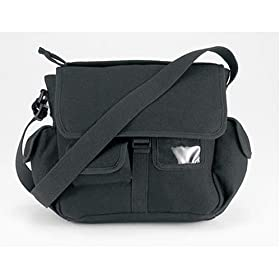 Urban Explorer Black Canvas Shoulder Bag