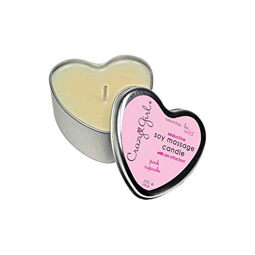 Crazy-Girl-Soy-Massage-Heart-Candle-4-oz-Pink-Cupcake
