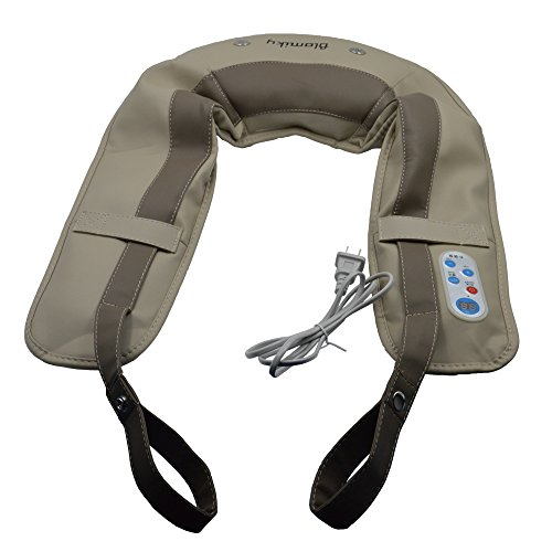 Blomiky M102 110V Upgrade Heat Neck Shoulder Back Tapping Massager Cervical Massage Shawls for Pain Relief Treatment Drum massager
