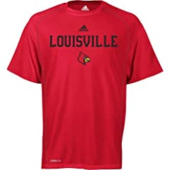 Louisville Cardinals Adidas Sideline Climalite Red T-Shirt by adidas
