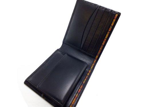 ポールスミス PAUL SMITH 二つ折り 短財布 AHXA/1033/W498 ブラック