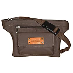 Style98 Brown Genuine Leather Waist Pack For Men,Boys,Girls & Women