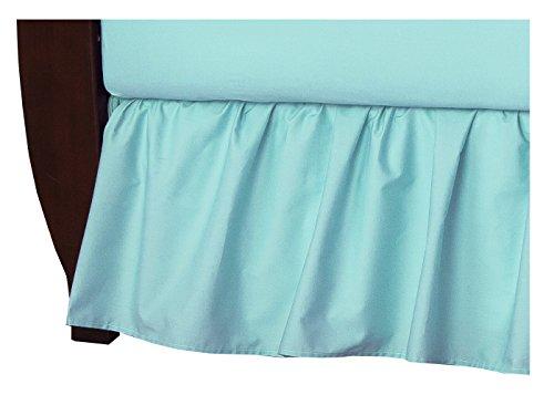 American Baby Company 100% Cotton Percale Ruffled Crib Skirt , Aqua