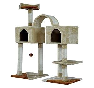 Pawhut 46 Cat Tree Scratching Post Toy Condo