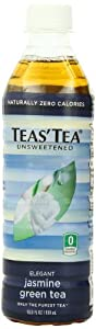 Teas' Tea Unsweetened Jasmine Green Tea, 16.9-Ounce Bottles (Pack of 12)