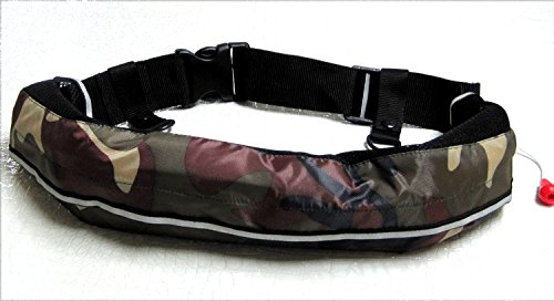 Inflatable life jacket ☆ belt type automatic inflatable 9 colors from selection (green camouflage).