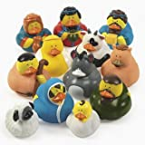 12 NATIVITY Set RUBBER DUCKS JESUS Mary Joseph Wisemen etc CHRISTMAS Collectibles HOLIDAY Gift DUCKIES