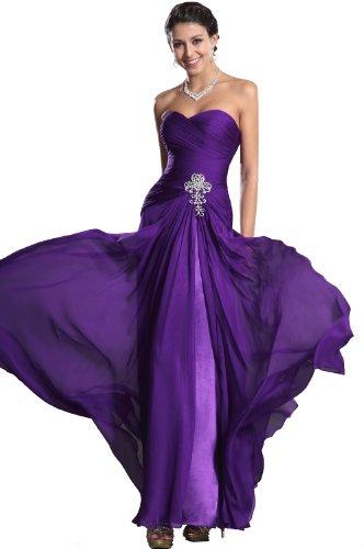 eDressit Sweetheart bustier robe de Soiree mariee ceremonie longue violet 00129506 T.36