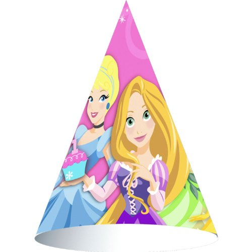 Disney-Princess-1st-Birthday-Cone-Hats-8ct