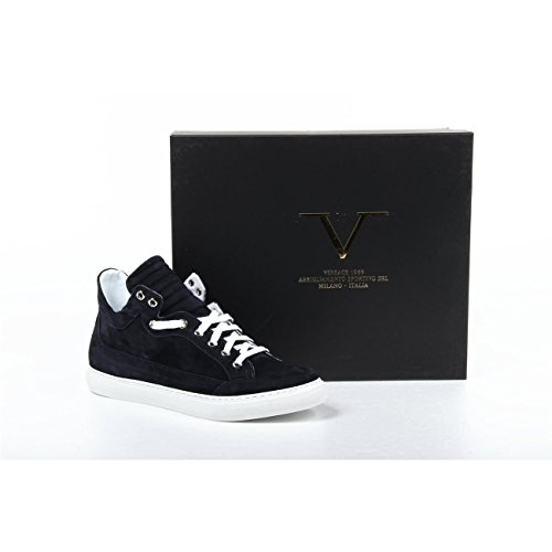 sneakers donna versace 19.69 abbigliamento sportivo milano ladies sneakers b2194 camoscio blu -- 40 it - 10 us