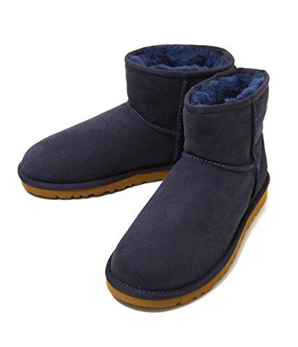 UGG Ladys (アグ レディース) CLASSIC MINI(22cm~25cm) 全8色 (ムートンブーツ クラシックミニ ボア ブーツ) 22cm ネイビー