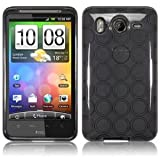 HTC Inspire 4G/ Desire HD Rubber TPU Skin Case/ Protector - Smoke Circle