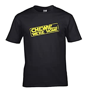 Chewie... We're Home Cool Tshirt Fan Art Star Force Han Sky Falcon Wars Mens Regular Fit Small - 5XLarge Multiple Colours