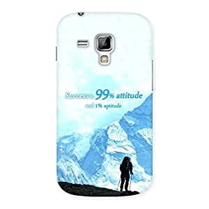 Delighted Attitude Success Back Case Cover for Galaxy S Duos