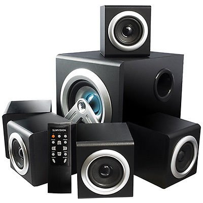 Sumvision V-Cube 5.1 Bluetooth Home Cinema Surround Sound Speaker System Remote