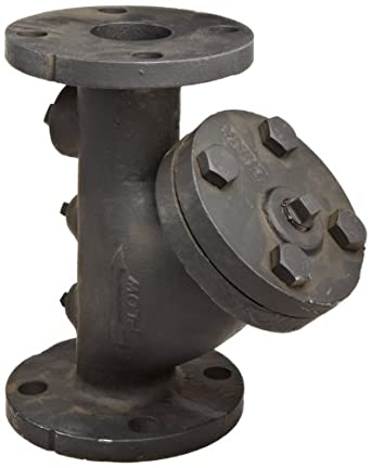 """Flexicraft YIF Cast Iron Wye Strainer with Flange End, 2"""" ID x 9-7/8"""" Length"""
