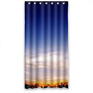 Amazon MOMO Beautiful scenery Shower Curtain Measures