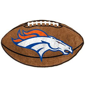 "Denver Broncos 22""X35"" Football Mat Made Of Polyester With A Non-Skid Duragon Latex Backing at Amazon.com"