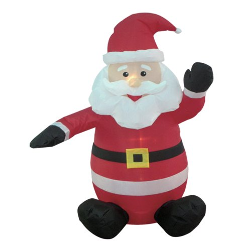 4-foot Christmas Inflatable Santa Claus Blow-Up Yard Decoration