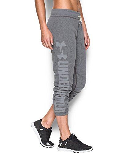 Under Armour Women's Favorite Fleece Pant, Carbon Heather (090), Small