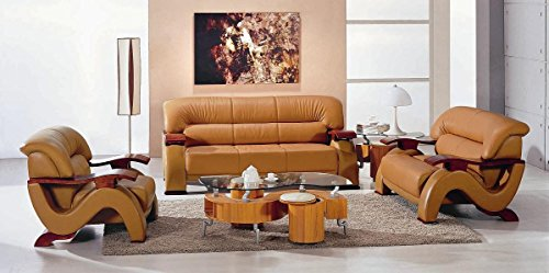 Fine 2033 Camel Modern Bonded Leather Sofa Set Lowest Gamerscity Chair Design For Home Gamerscityorg