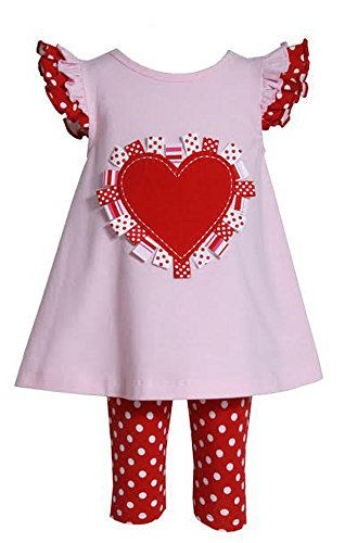 Bonnie Jean Baby Girls Valentine Dress & Leggings Set