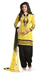Ethnic For You Women's Cotton Salwar Suit Dress Material(ETH5947_Yellow)