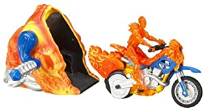 Fantastic 4 Human Torch Blazing Stunt Bike