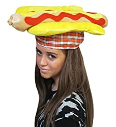 Hot Dog Hat - Bright Hot Dog Hat For Costume from CoverYourHair