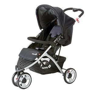 Safety 1st 11104411 - Easy Go Sportiver Buggy und Travelsystem, inklusiv Regenverdeck, Einkaufskorb und Adapter für die Maxi-Cosi Babyschale, Black sky