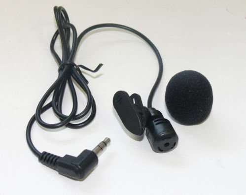 3.5Mm Clip-On Mini Lapel Tie Hand Free Microphone Lavalier Mic For Laptop Pc New