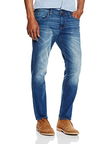 edc by ESPRIT Slim Fit 025CC2B024, Jeans Uomo, Blu (Blue Medium Wash), 48 IT (Taglia Produttore: 34W/30L)
