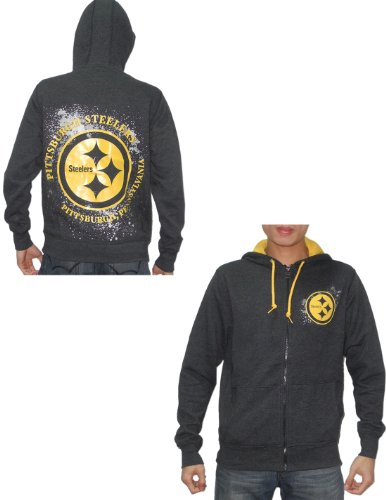new product b779c 07df4 NFL Pittsburgh Steelers Mens Zip-Up Hoodie / Jacket (Vintage ...