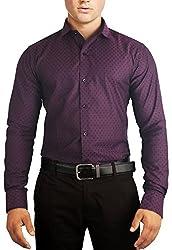 Unkonventional Squares Purple Shirt