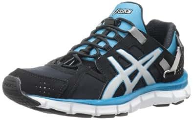 ASICS Women's Gel-Synthesis Running Shoe,Black/Silver/Island Blue,6 M US